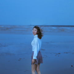 余晖后海滩