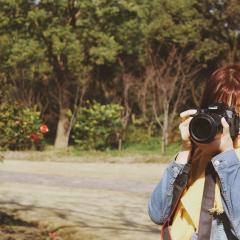晓溪学姐在复兴岛公园